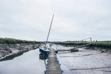 Low tide at Morston Quay. Norfolk, UK.