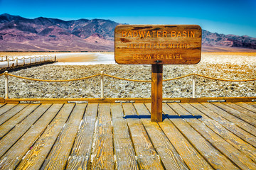 badwater basin sign