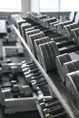 Dumbbells on a stand
