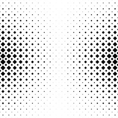 Monochrome abstract square pattern background - black and white halftone vector illustration from diagonal squares