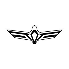 aviation emblem badge military and civil aviation icon