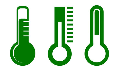 Set of thermometer – stock vector