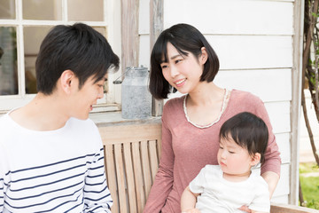 young asian family lifestyle image