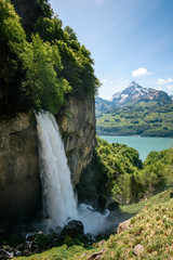 Panorama of Rhinquelle waterfal