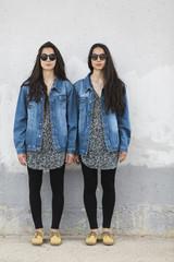 Twin  sister portrait
