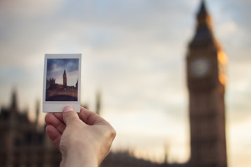 Big Ben on Instant Photo