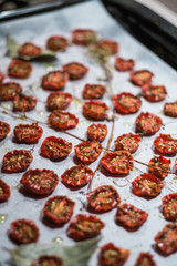 Oven dried Cherry Tomatoes