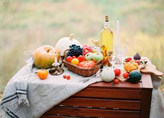 Autumn food still life