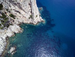 Aerial view of Perda Longa, Sardinia, Italy