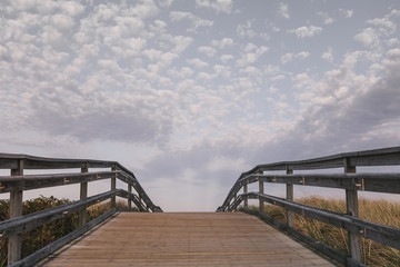 Boardwalk at Duxbury Beach Duxbury, Massachusetts