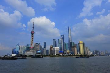 Tuinposter Toronto Shanghai world financial center skyscrapers