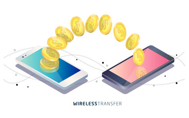 Money transfer between phones.