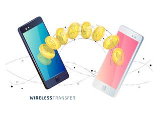 Money transfer between phones.