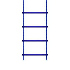 Wooden rope ladder in blue design