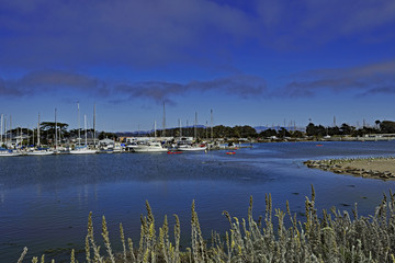 The Moss Landing boat launch area