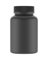 blank plastic bottle isolated on white background, 3D rendering