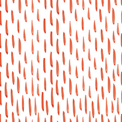 Hand painted seamless watercolor pattern with abstract vertical strokes. Abstract watercolor strokes in coral red. Seamless pattern with watercolor vertical brushes. JPG