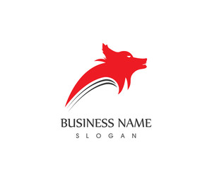 Wolf Head Logo Design template