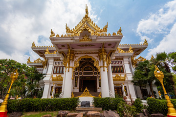 .pavilion at wat Phra That Phanom,Nakornphanom,Thailand.