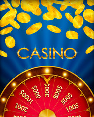 Fortune wheel, game spin, realistic 3d lucky spinning, luxury gold roulette. Vector illustration, casino background for luck, money, jackpot, play, lottery. Winner fortune wheel.