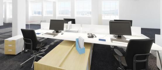 Büroeinrichtung Konzept (panoramisch)