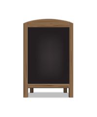 Vector wooden menu announcement board.