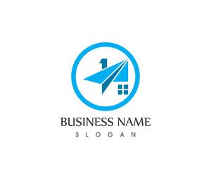 Paper Plane House Logo Design
