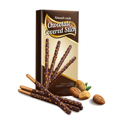 Chocolate covered stick element