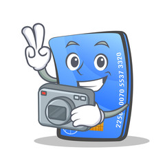 Photography credit card character cartoon