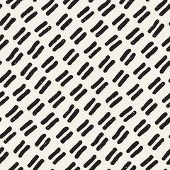 Seamless pattern with hand drawn lines. Abstract background with freehand brush strokes. Black and white texture. Ornament for wrapping paper.