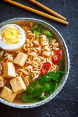 Miso ramen soup