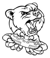 Bear Gamer Mascot