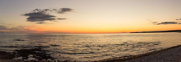 Sunset panorama in croatia
