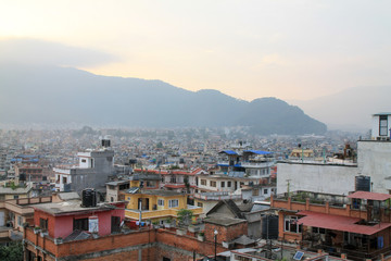 Rooftop view over the city of Kathmandu, Nepal