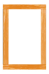 Photo frame wooden. Illustration