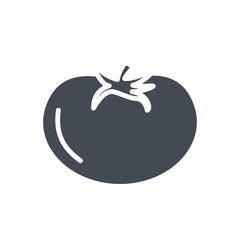 Food vegetables silhouette icon tomato