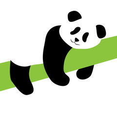 Panda bear silhouette vector illustration