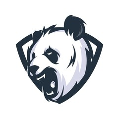 Panda Vector Logo Illustration