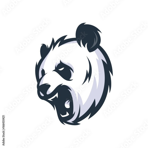 panda vector logo illustration stock image and royalty free vector