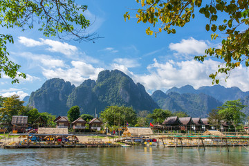 Vang Vieng village view, Laos