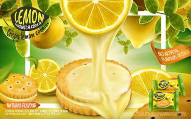 Lemon sandwich cookies ad