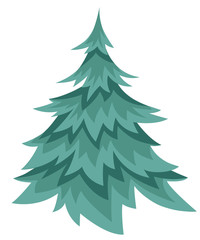 Cartoon Pine Tree Web site page and mobile app design vector illustration.