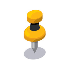 Isometric push pin icon