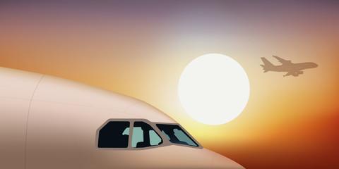avion de ligne - avion - aéroport - décollage - pilote de ligne - passager