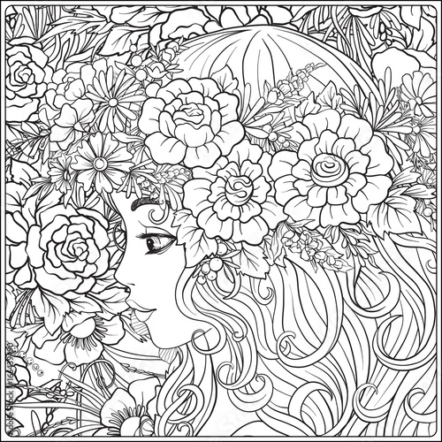 470 Coloring Book For Flower Girl Best HD