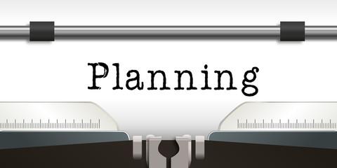 planning - présentation - entreprise - travail - agenda - machine à écrire