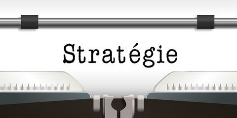 Stratégie - présentation - solution - entreprise - réussite - succès - machine à écrire