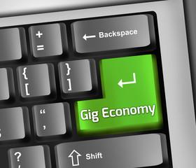 Keyboard Illustration Gig Economy