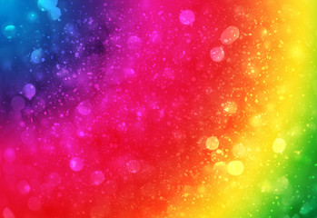 Colorful sparkle rays lights with bokeh elegant abstract background. Dust sparks in explosion background. Vintage or retro.