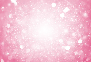 Soft Pink sparkle rays lights with bokeh elegant abstract background. Dust sparks in explosion background. Vintage or retro.